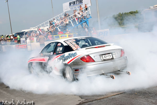 Smokey burnout!